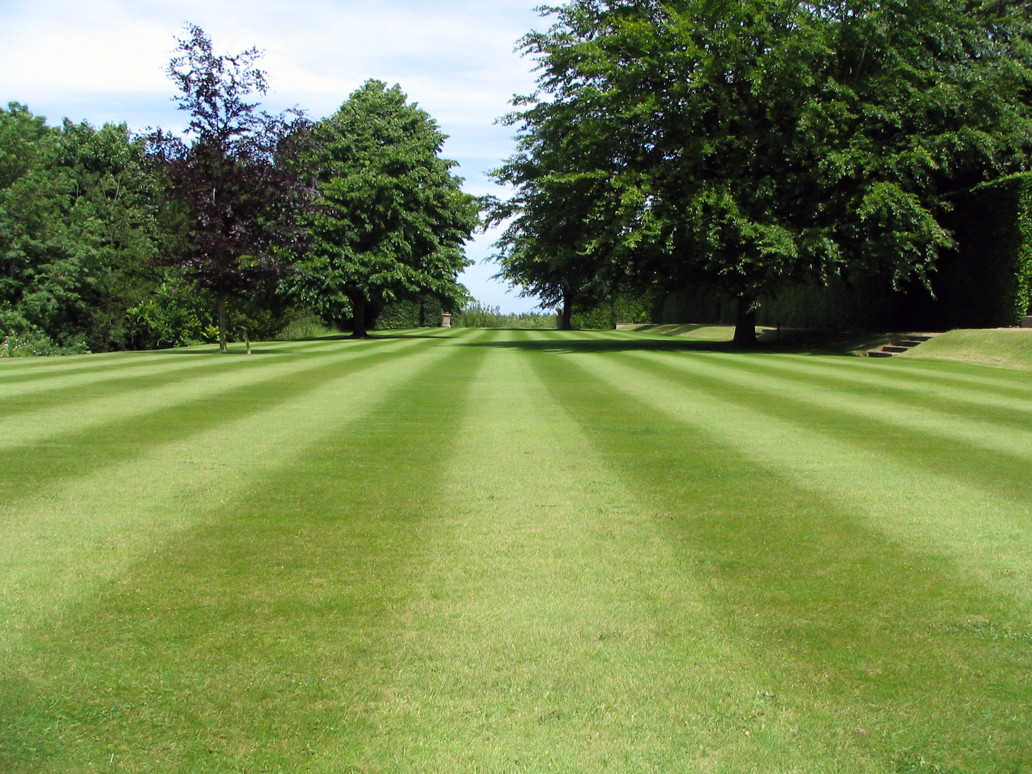 Mowing services in ground maintenance with Fresh cut stripes